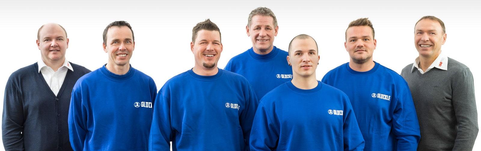 Das komplette Glöckle-Isotec-Team