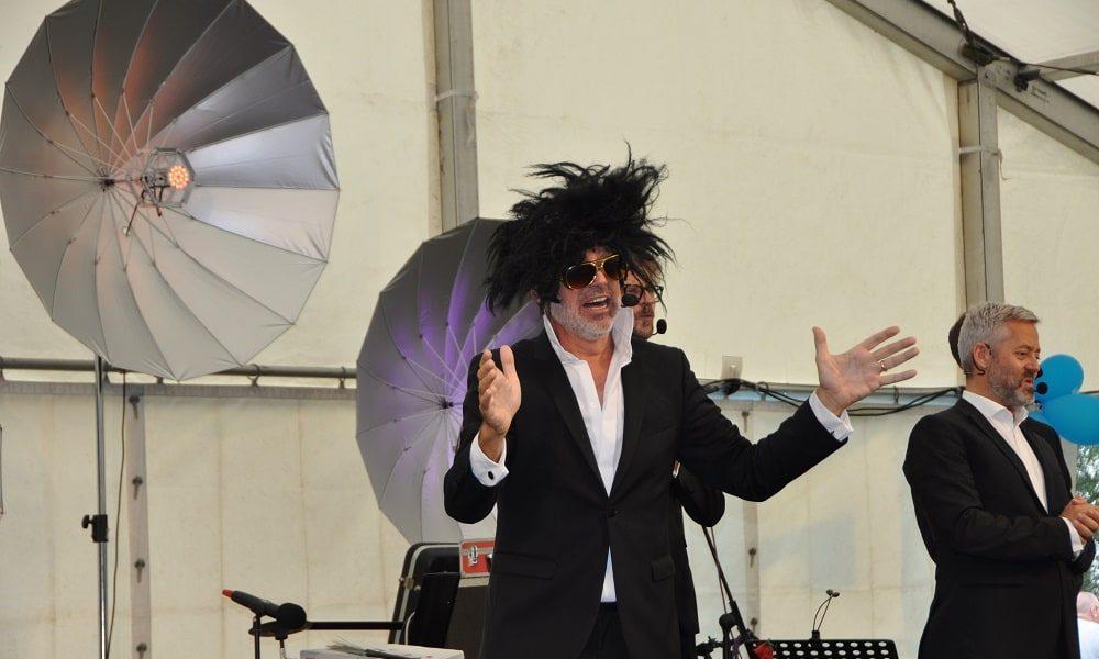Die Komedieband SIXPACK sorgt für viele Lacher am Glöckle Jubiläumsfest