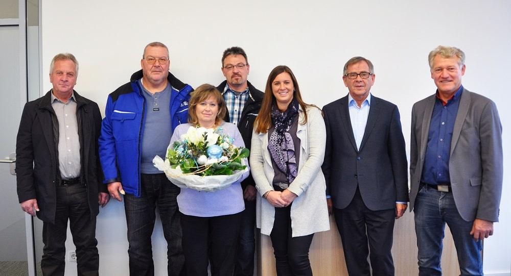 Glöckle ehrt im Dezember 2017 vier langjährige Mitarbeiter