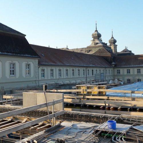 Rohbau des neuen Krankenhauses in Werneck