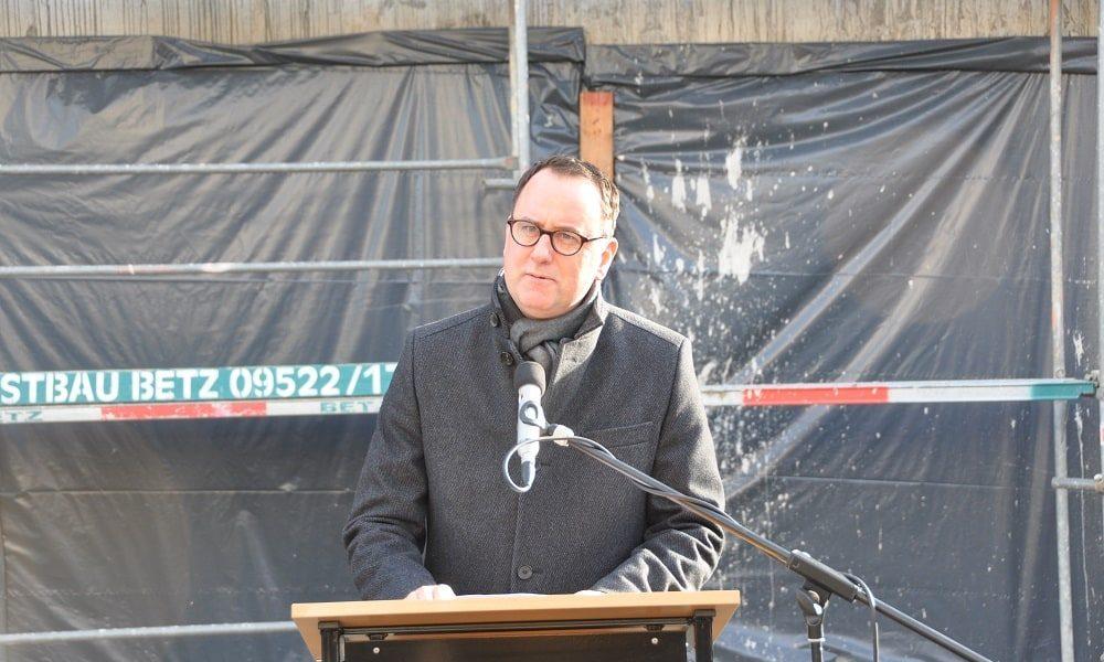 Ansprache des Bauherren der Stadtbau GmbH am Richtfest des Gesundheitzentrums in Bamberg