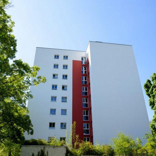 Ansicht der sanierten Wohnanlage in München