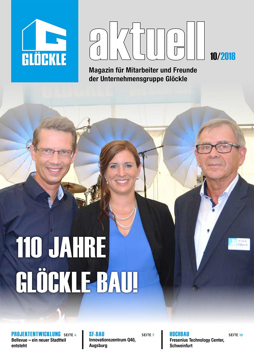 """Die """"GLÖCKLE aktuell"""" ist das Mitarbeiter- und Freundemagazin der Unternehmensgruppe Glöckle"""