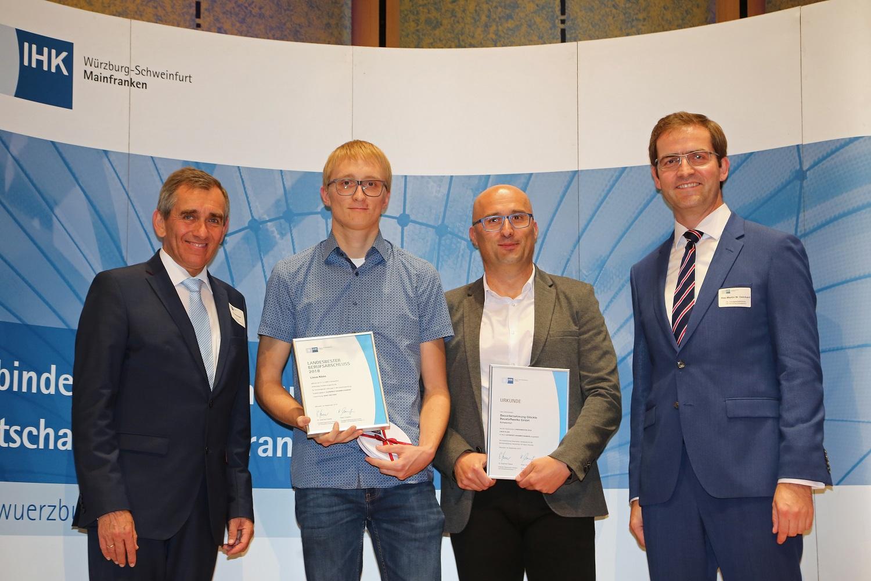 IHK ehrt GLÖCKLE Azubi Linus Klein zum Landessieger