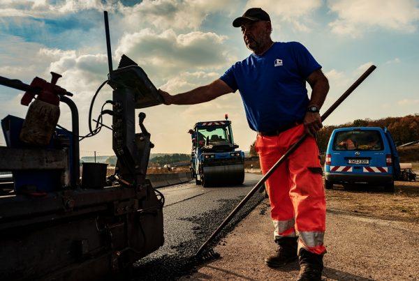 Spurrinnensanierung auf der A7 durch den Glöckle Straßenbau