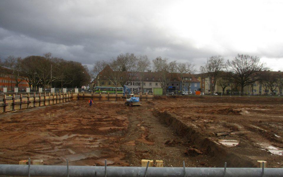 Bauvorbereitungen für den neuen i-Campus auf dem Gelände der Ledward-Kaserne
