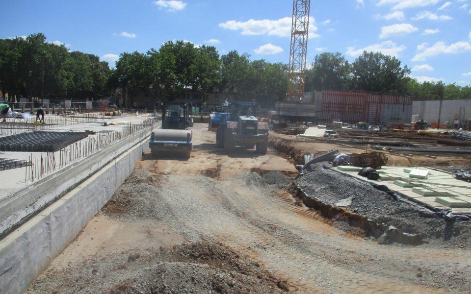 Die ersten Betonfundamente für den i-Campus sind bereits gegossen
