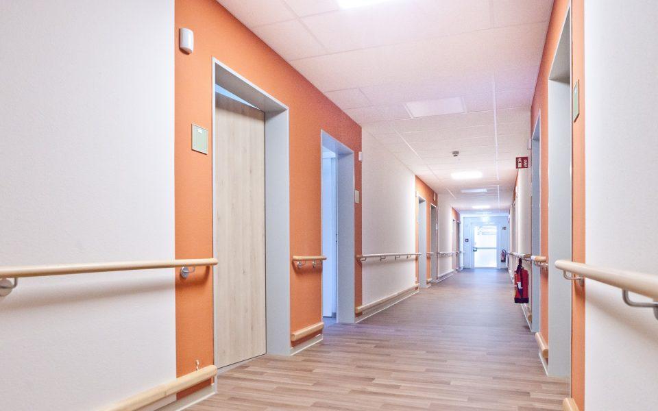 Freundliche und abwechslungsreiche Farben finden sich im Pflegezentrum Lichtenau-Ulm wieder