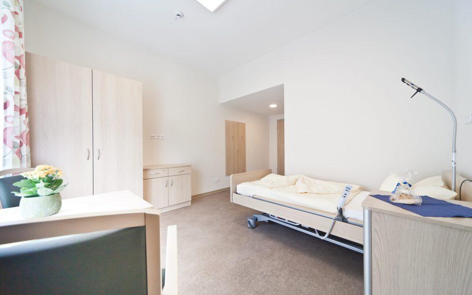 Geräumige und moderne Pflegezimmer im Pflegezentrum Lichtenau-Ulm