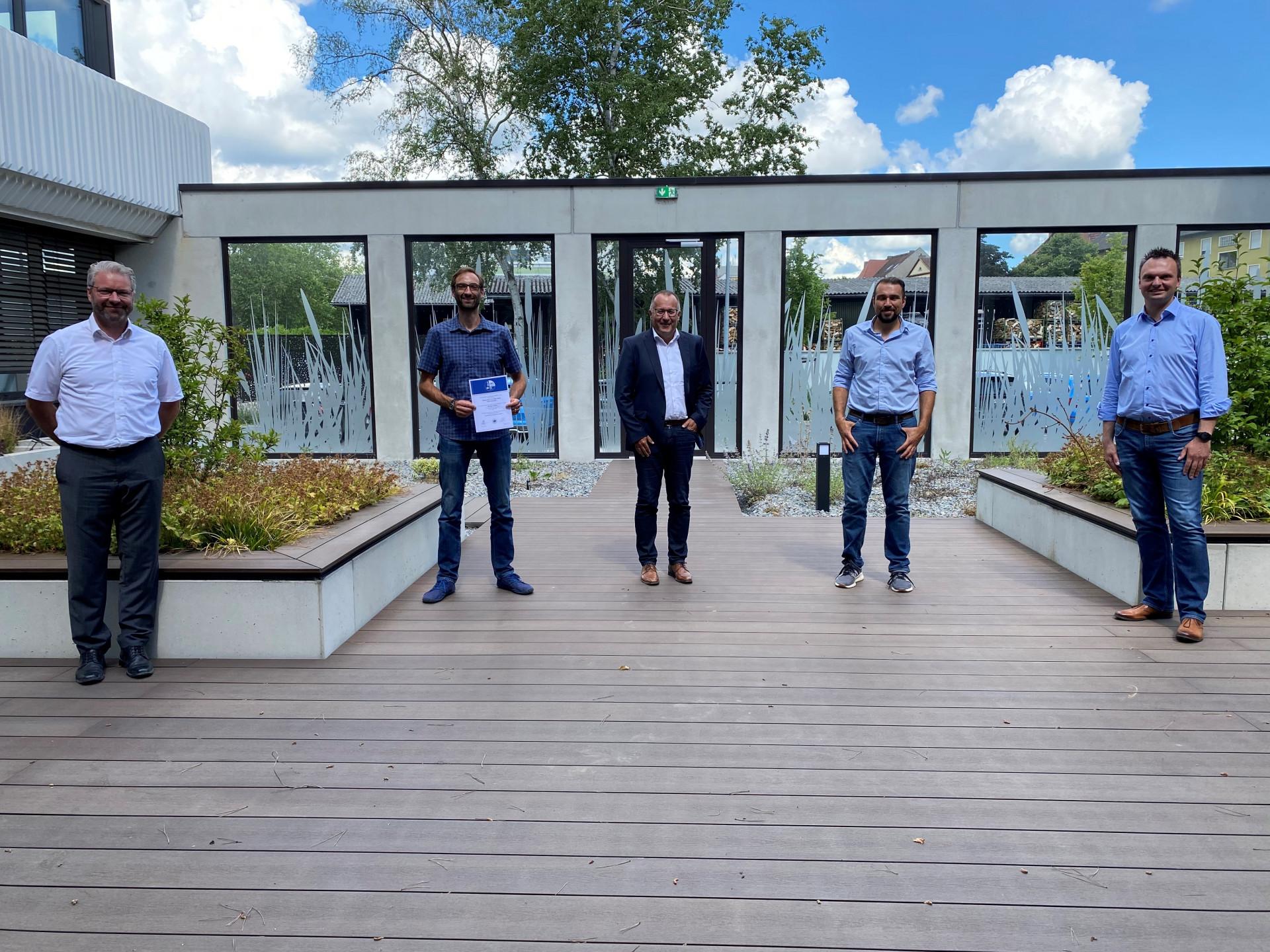 Sicherheit geht vor – Bauunternehmung Glöckle Hoch- und Tiefbau GmbH erhält offizielle Bescheinigung für Arbeitssicherheit